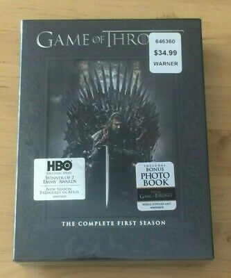 New Sealed Game of Thrones The Complete First Season DVD Gift Boxed Set 5 Disc