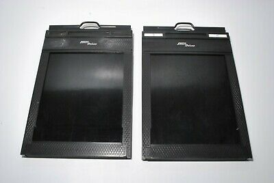 "Exc*  2pcs x Fidelity Elite 4x5 5x4 cut film holders ""Lot of 2"" from Japan"