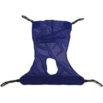 INVACARE 6V8Lzr1 1 EA R116 Reliant Full Body Sling with Commode Opening, Blue,