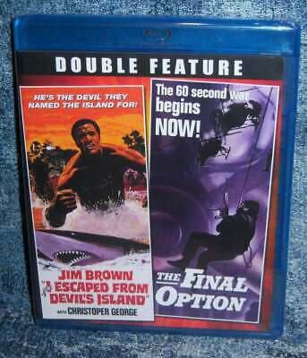 New Shout Factory I Escaped From Devil's Island & The Final Option Movie Blu Ray