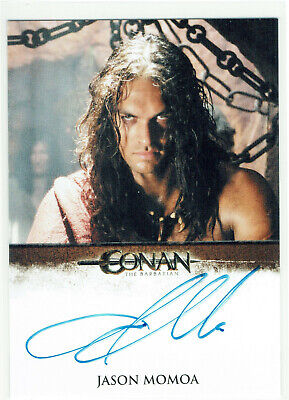 Conan The Barbarian Autograph Card Jason Momoa (Game of Thrones Khal Drago)