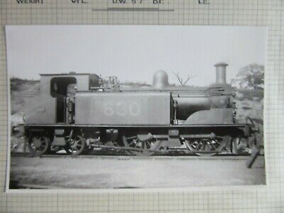 Vintage Railway Photo SECR Kirkley No.630 A1 0-4-4T 1880 Loco   fc73j