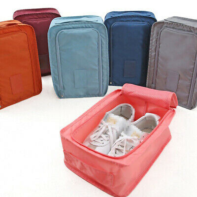 Portable Waterproof Travel Organiser Tote Shoes Pouch Storage Bag Zip Folding