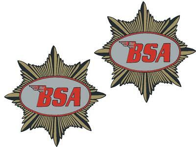 BSA Goldstar 350 Tank Transfers Decals Motorcycle Sold as a Pair