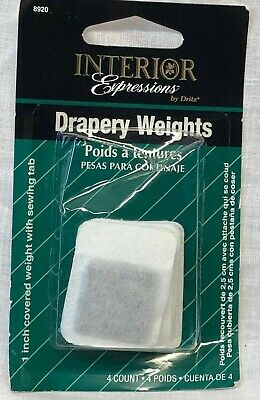 """Interior Expressions Drapery Weights, Covered - 1"""" - 4 Ct."""