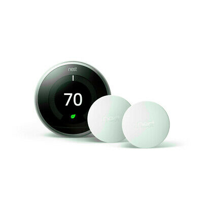 Nest Learning Thermostat 3rd Generation Stainless Steel w/ Temperature Sensor