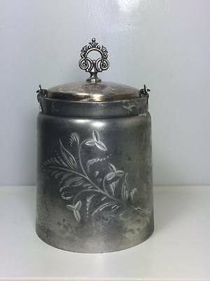 Antique silver plate G.Weeton MFG Co. biscuit barrel