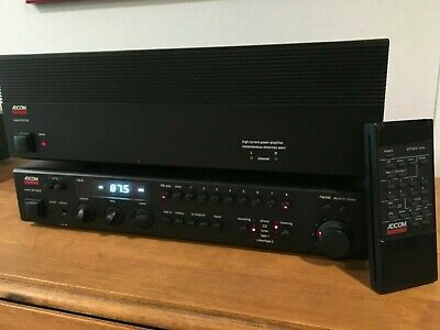Adcom GTP-500II Preamp tuner AND GFA-545 Amp Power Stereo Amplifier 2 Channel