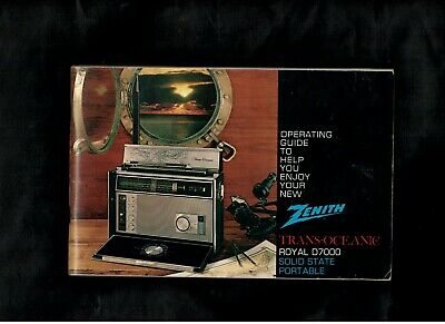 (R-1140) Orig. Zenith Trans-Oceanic Royal D7000 Operating Guide & Service Manual