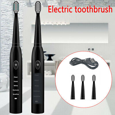Rechargeable 5 Series Sonic Electric Toothbrush USB Vitality Sensitive + 4 Head