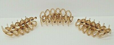 di PRIMA Honey Hair Clamp - Hand made - Clip - 3 1/2 inch Lot of 3