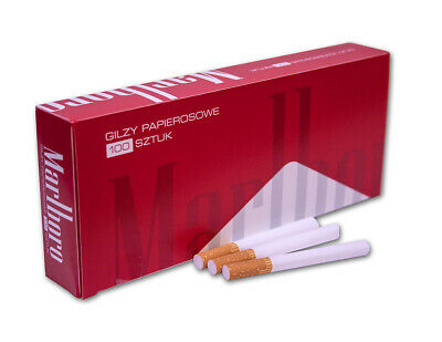 3500 Marlboro Red Empty Cigarette Filter Tubes King Size 35 Boxes of 100