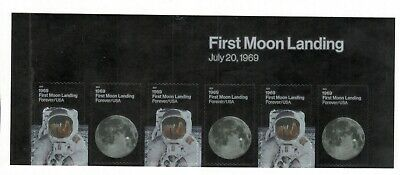 5399-5400 First Moon Landing US Postage Header With 6 Stamps Mint/nh
