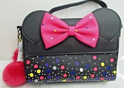 Disney Parks Loungefly Minnie Mouse Rock The Dots 2019 NEW WITH TAGS