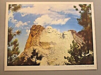 Mount Rushmore - Standard Oil Company Of California Print and Info, Vintage 1942