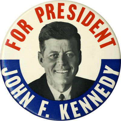 Classic 1960 John F. Kennedy FOR PRESIDENT 6-in. Button / Wall Plaque (5414)