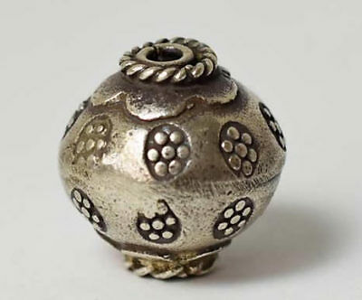 Rare Thai KAREN silver bead ball vintage antique netsuke ojime inro japan Asian