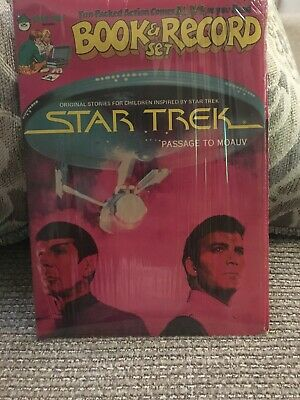 1979 Star Trek Passage to Moauv Book & 45rpm Record Set New Sealed Peter Pan