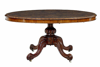 19Th Century Burr Walnut Oval Breakfast Table