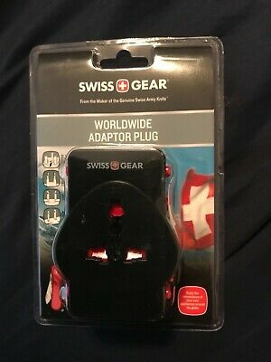 Swiss Gear Adaptor Plug, Worldwide, Black 1 Each ~ WJ3172BK ~ Free Shipping
