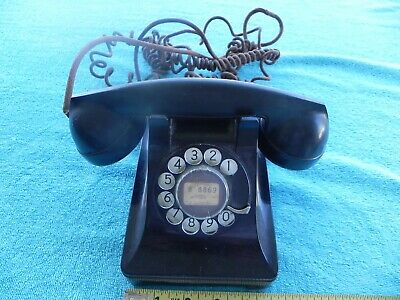 Vintage Western Electric Bell System F1 Rotary Desk Black Telephone