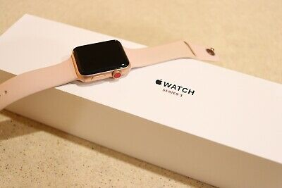 Apple Watch Series 3 42mm Gold Aluminum Case with Pink Sand Sport Band (GPS...