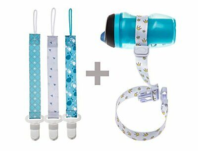 SEALED Kidignity 3 Pacifier Teething Toy Clips with 1 Sippy Cup Toy Leash