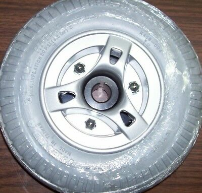 Mobility Scooter Tire~ (2.80/2.50-4)~ FOAM Filled NO Flats~ With Keyed Hub NEW