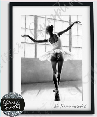 Stunning Painting Ballerina Scandi Fashion Bedroom home decor Art Print GG17