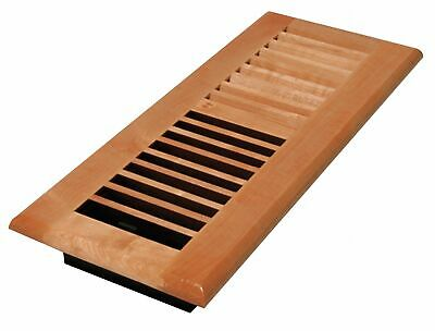 Floor Register,  4x12,  Laquered Natural,  11-57/64 Max. Duct Height (In.),  4