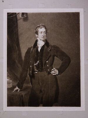 Charles TURNER Sir Robert Peel Thomas Lawrence (1769-1830) Gravure portrait