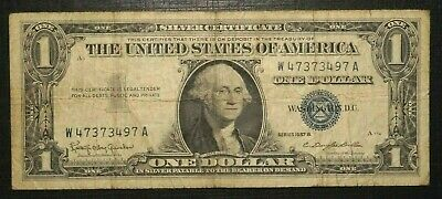1957 B UNITED STATES Silver Certificate - Blue Seal - 1 Dollar  (252K)