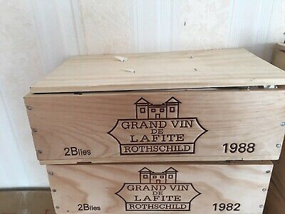 Lafite Rotschild 1988 2 Bottle Owc Wooden Box Petrus Mouton Drc