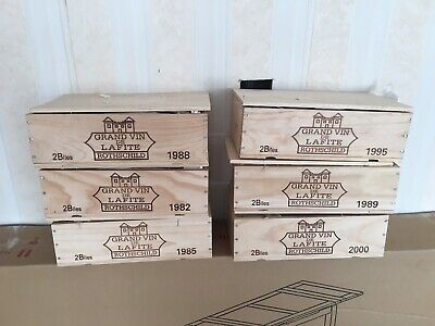 Lafite Rotschild 1989 2 Bottle Owc Wooden Box Petrus Mouton Drc