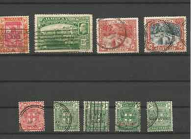 9 Early Caribbean Jamaican stamps,1910-1921 ** unresearched**