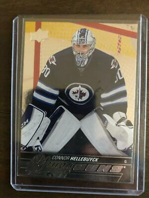 Connor Hellebuyck Silver Foil Upper Deck #214 Young Guns Rookie