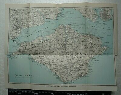 1926 Map of the Isle of Wight - Bartholomew - shows old railway system