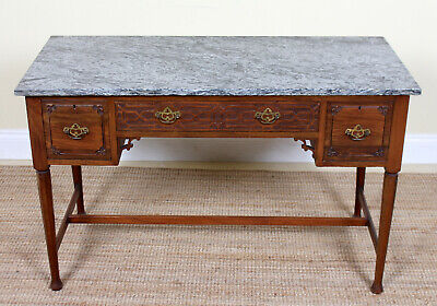 Antique Marble Mahogany Table Writing Desk Fine Quality Victorian Washstand