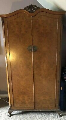 Antique Burr Walnut Gentlemen's Wardrobe