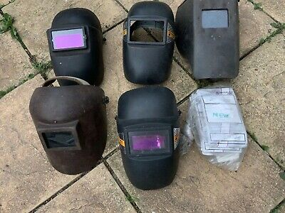 Welding Masks  - Used 5x Masks And Replacement Glass
