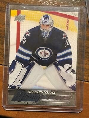Connor Hellebuyck Upper Deck #214 Young Guns Rookie RC Winnepeg Jets