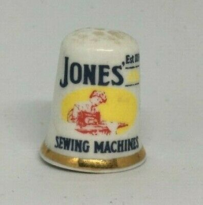 Collectable Thimble - JONES SEWING MACHINE  (AA173)