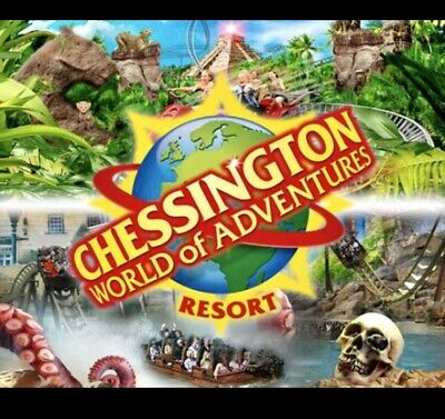 2 x Chessington World Of Adventures E Tickets Saturday 10th August 2019 10/08/19
