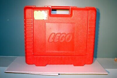"Vintage Lego Large Red Storage Container Carrying Case Bin 15"" x 12"" x 4"""