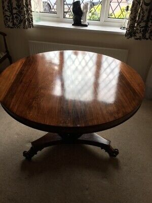 Beautiful Victorian Mahogany round tilt top table