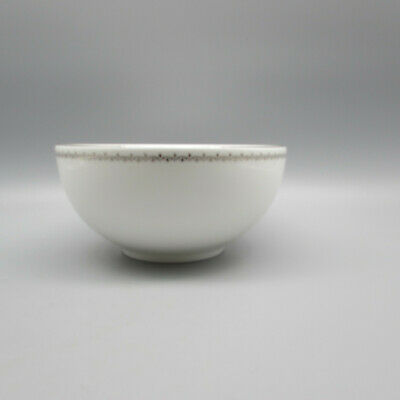 SET OF FOUR - Wedgwood / Martha Stewart FRENCH KNOT SILVER Cereal Bowls