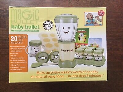 "Magic Bullet ""Baby Bullet"" - 20 Piece Set - The Complete Baby Food Making Suste"