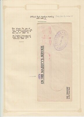 Hong Kong 1953 On Her Majesty's Service Cover From The Treasury.