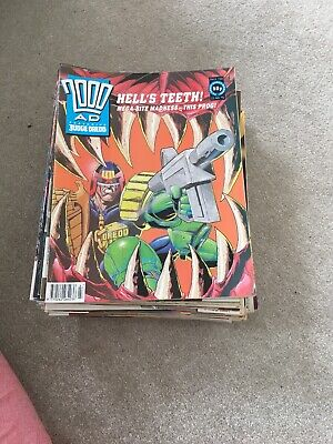 2000AD X 45 Comics from 701-758 Vgc 1990s