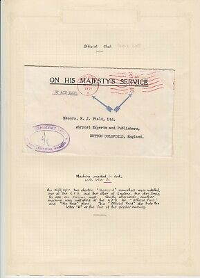 Hong Kong 1951 On His Majesty's Service Cover - Correspondence Dept.
